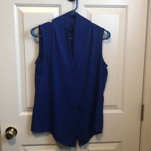 Blue v neck blouse